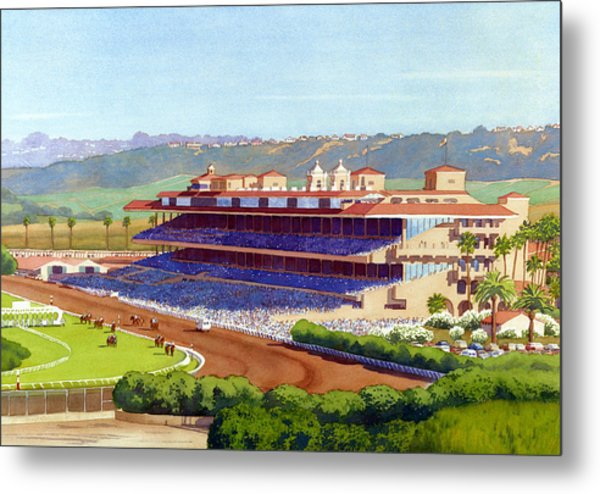 New Del Mar Racetrack Metal Print by Mary Helmreich