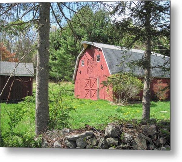 New England Barn Metal Print by Marjorie Tietjen