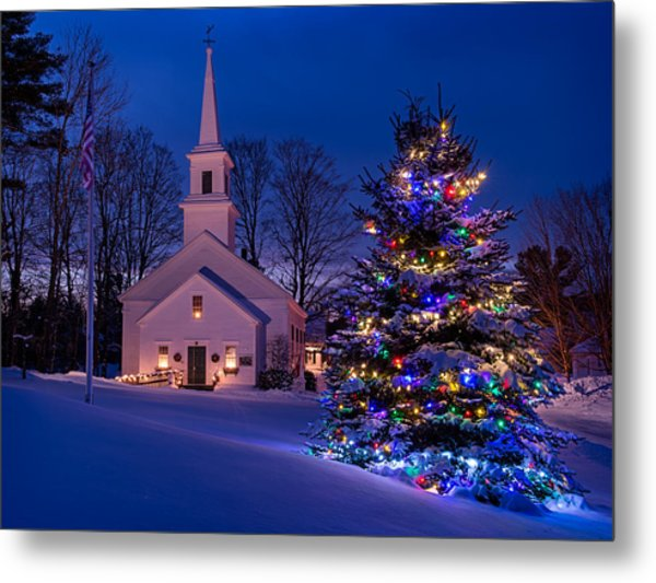 New England Christmas Metal Print