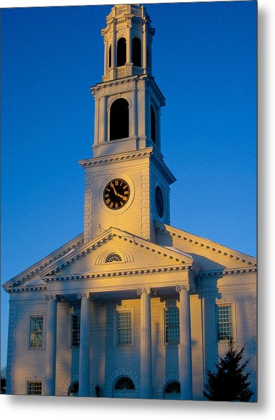 New England Church Metal Print by DustyFootPhotography