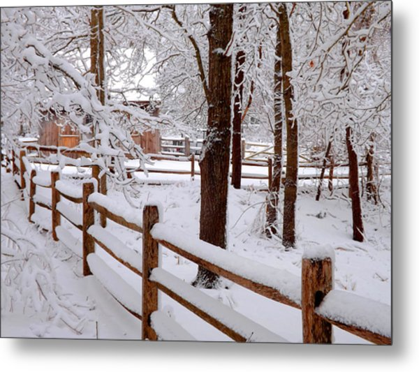 New England Winter Metal Print