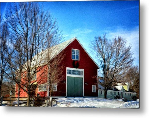New Hampshire Farm Metal Print
