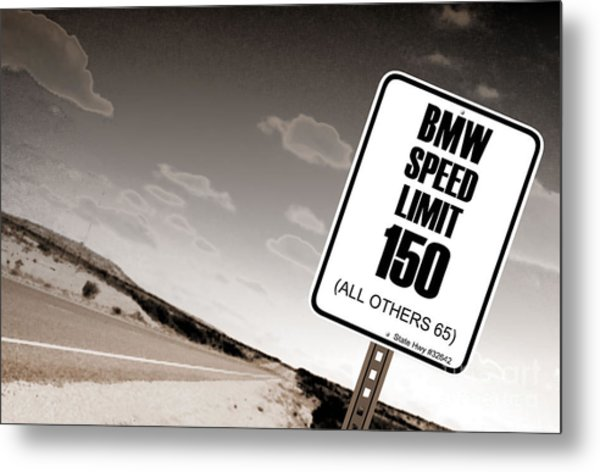 New Limits Sepia Metal Print