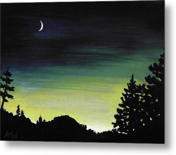 New Moon Metal Print