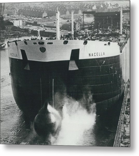 New Oil Tanker Launched Metal Print by Retro Images Archive