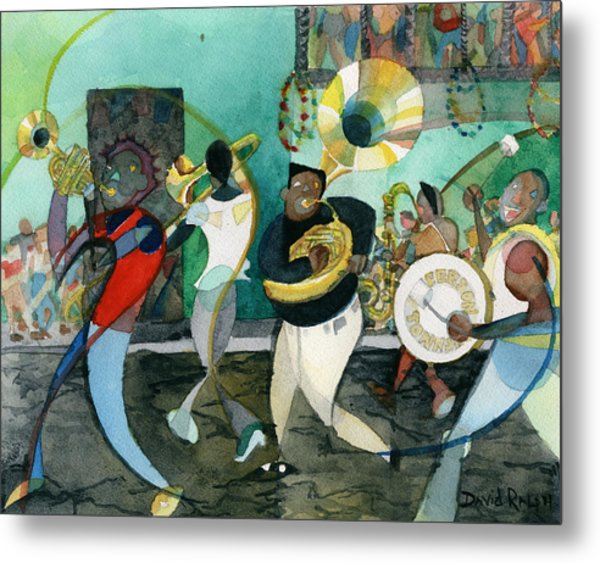 New Orleans Brass Band Jazz Metal Print