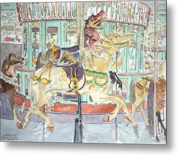 New Orleans Carousel Metal Print