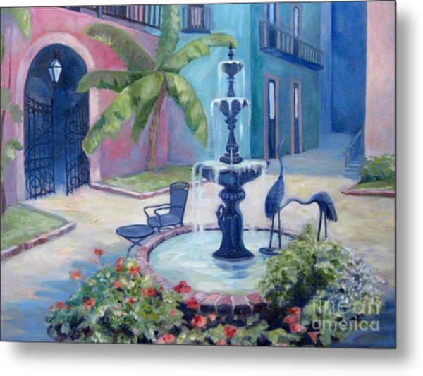 New Orleans Fountain 2 Metal Print