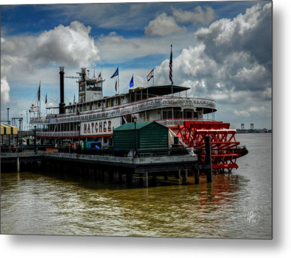 New Orleans - Steamboat Natchez 001 Metal Print by Lance Vaughn