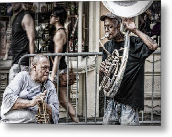 New Orleans Street Jam Metal Print