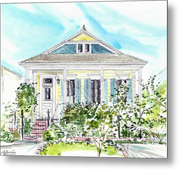 New Orleans Victorian Metal Print