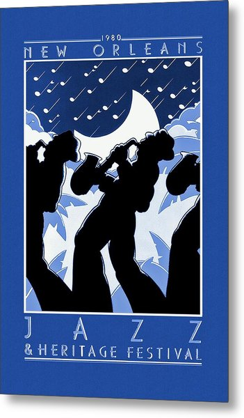 New Orleans Vintage Jazz And Heritage Festival 1980 Metal Print