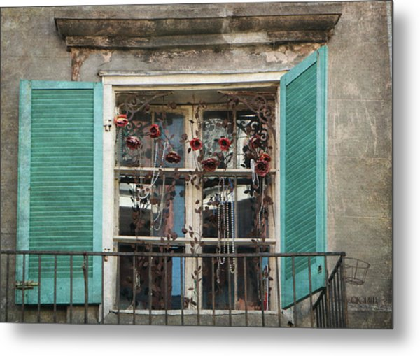 New Orleans Window Metal Print