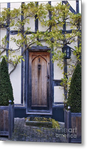 New Photographic Art Print For Sale Doorway 2 In Medieval Lavenham Metal Print