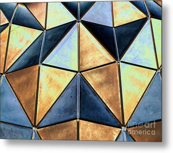 Pop Art Abstract Art Geometric Shapes Metal Print
