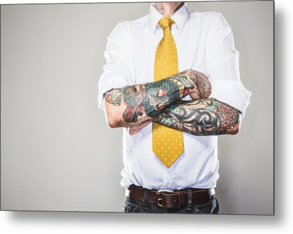 New Professional With Tattoos Metal Print by RyanJLane