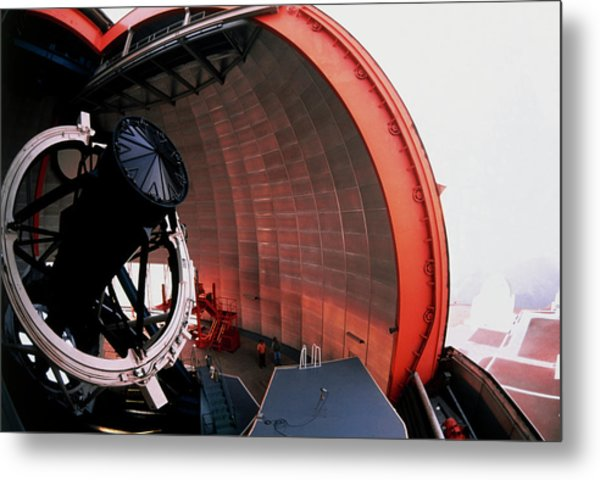 New Technology Telescope At La Silla Metal Print by David Parker/science Photo Library