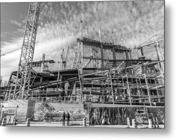 Minnesota Vikings U S Bank Stadium Under Construction Metal Print