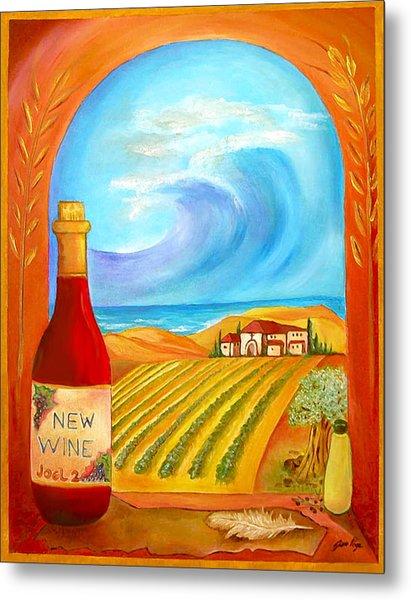 New Wine  Joel 2 Metal Print