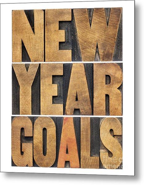 New Year Goals Metal Print