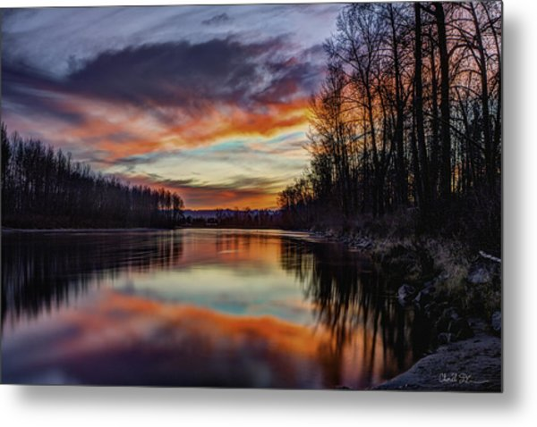 New Years Eve Sunset Metal Print