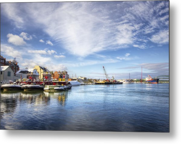 New Years In Portsmouth Nh Metal Print