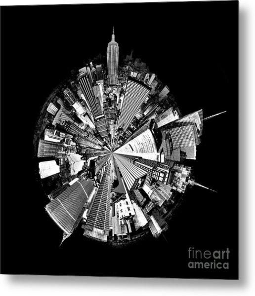 New York 2 Circagraph Metal Print