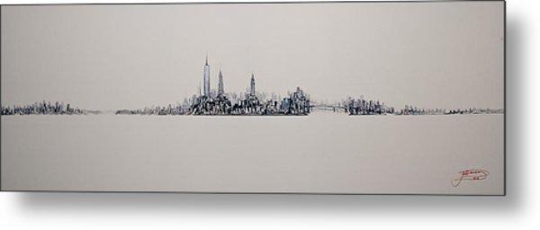 New York City 2013 Skyline 20x60 Metal Print