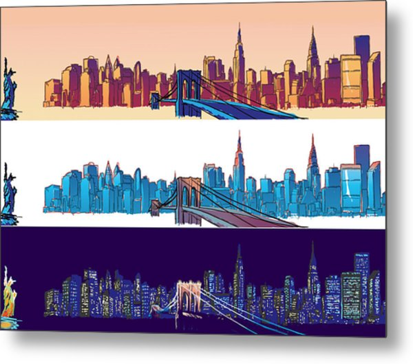 New York City - All Day Metal Print by Sam Shacked