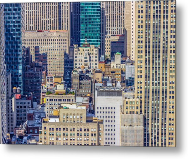 New York City Buildings Abstract Metal Print