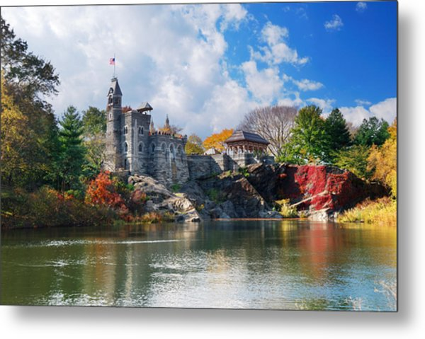 New York City Central Park Belvedere Castle Metal Print