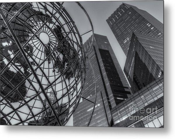 New York City Columbus Circle Landmarks II Metal Print