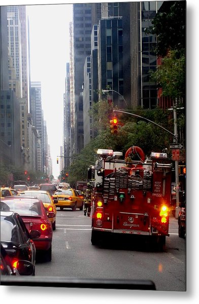 New York City Fire Department Truck Nyfd 2005 Metal Print