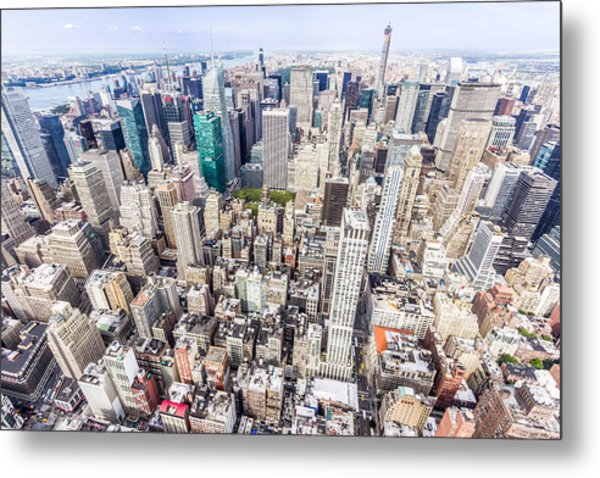 New York City From The Empire State Building Metal Print
