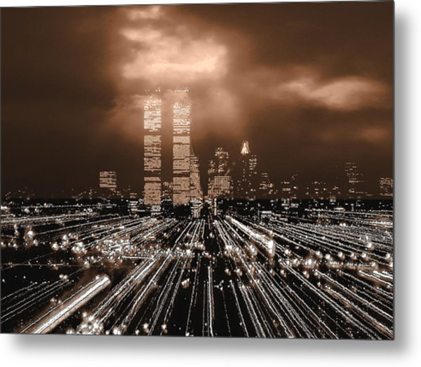 New York City Gold Metal Print