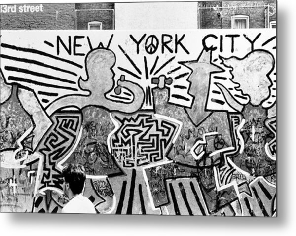New York City Graffiti Metal Print
