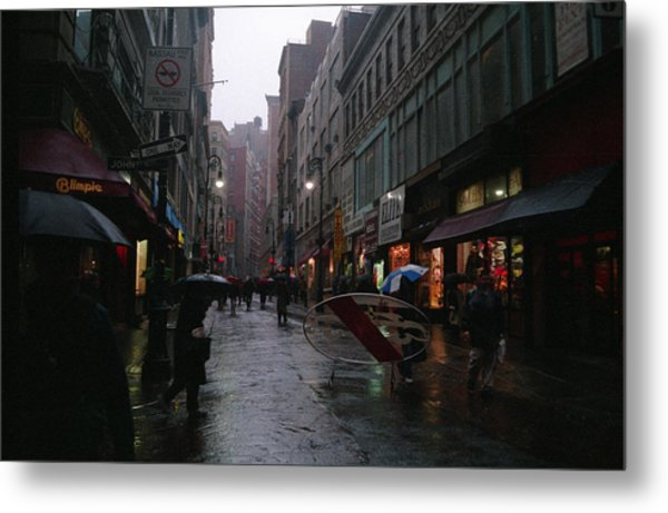 New York City In The Rain Metal Print by Eric Miller