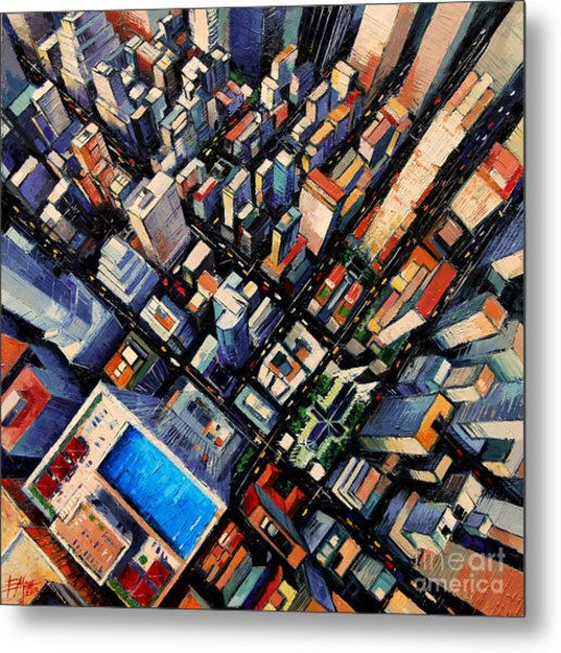 New York City Sky View Metal Print