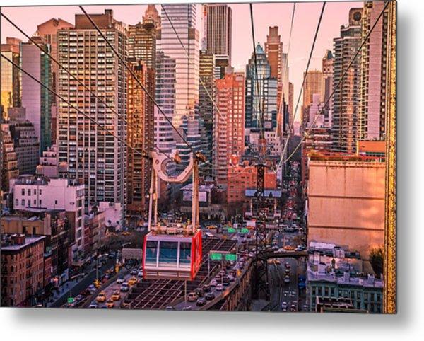 New York City - Skycrapers And The Roosevelt Island Tram Metal Print