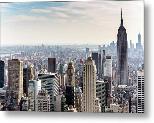 New York City Skyline Metal Print by Denise Panyik-dale