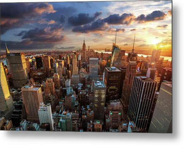 New York City Skyline Metal Print by Dominic Kamp Photography