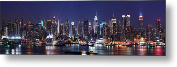 New York City Skyline Panorama Metal Print