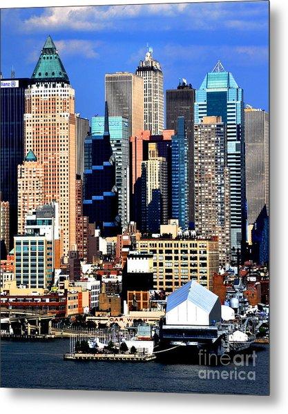 New York City Skyline With One World Wide Plaza Metal Print