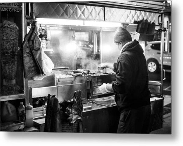 New York City Street Vendor Metal Print