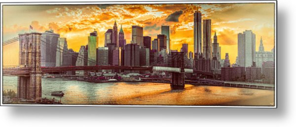 New York City Summer Panorama Metal Print