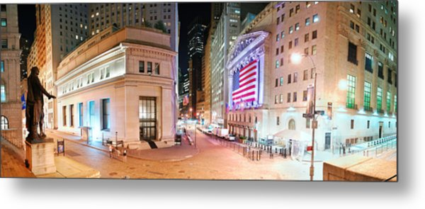 New York City Wall Street Panorama Metal Print