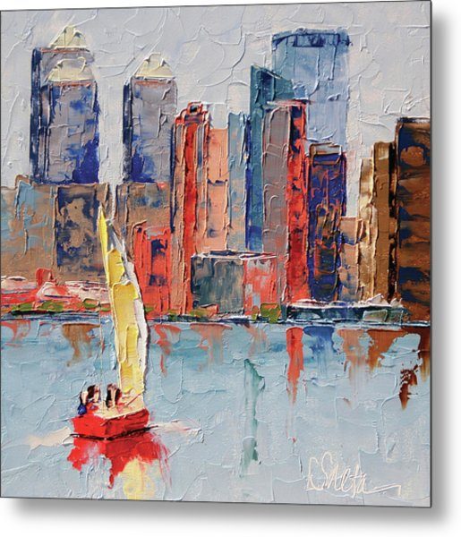 New York Harbor Metal Print by Leslie Saeta