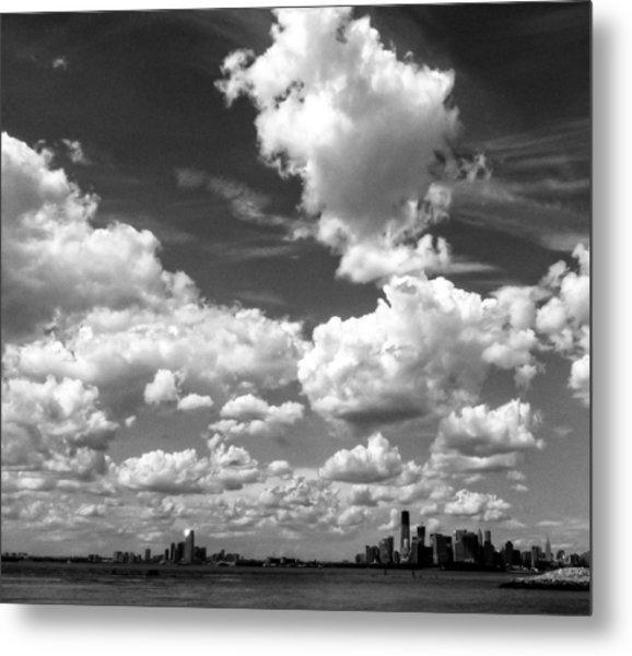 New York Harbor Sky Metal Print