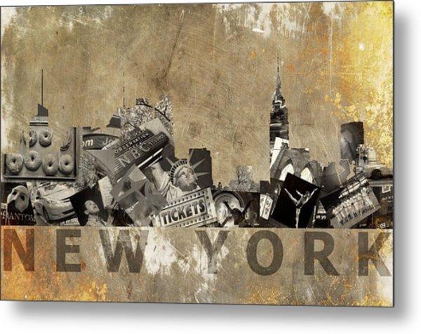 New York City Grunge Metal Print