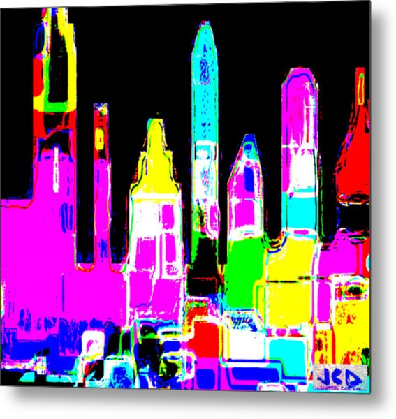 New York Is Rejoicing Metal Print by Jean-Claude Delhaise